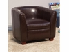 Youth Seating and Kid's Chair in Brown Faux Leather