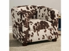 Youth Seating and Kid's Chair in Cowhide-Look Fabric