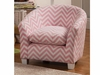 Youth Seating and Kid's Chair in Pink Zig Zag