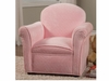 Youth Seating and Kid's Chair in Textured Pink Fabric