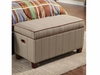 Youth Seating and Storage Upholstered Storage Bench in Striped Fabric