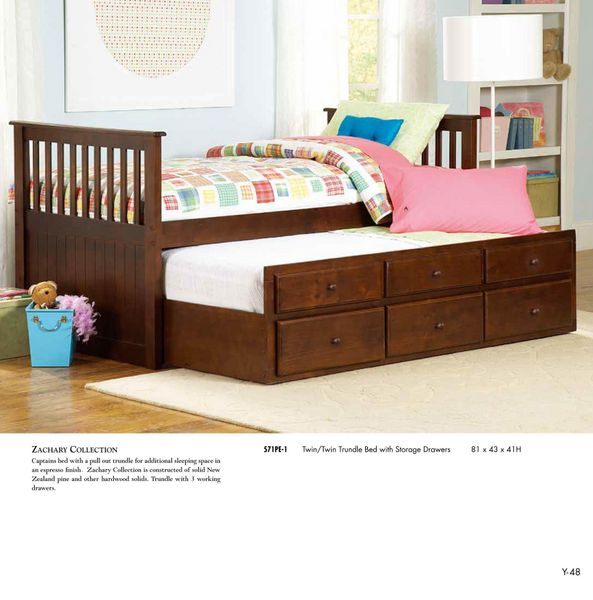 Modern Twin Twin Daybed Trundle Bed Children Bedroom 571pe 1 Arlington Va Furniture Stores