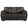 Zenon Plush Loveseat with Baseball Stitching