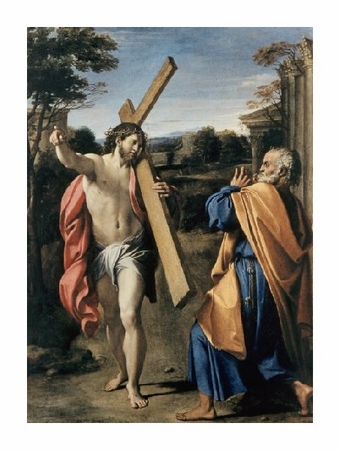 "Agostino Carracci Fine Art Open Edition Giclée:""Christ Appearing to Saint Peter"""
