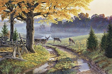 "Al Agnew Handsigned and Numbered Limited Edition Print:""Bend in the Road"""
