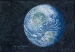 """Alan Bean Hand Signed Limited Edition Gallery Wrap Canvas Giclee:""""This Beautiful Planet..."""""""