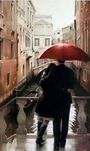 "Daniel Del Orfano Limited Edition Hand Embellished Giclee on Canvas:""Lost in Venice"" - Click to enlarge"