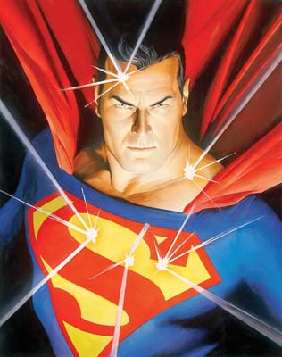 "Alex Ross Hand Signed and Numbered Limited Edition Giclee on Paper:""Mythology: Superman"""