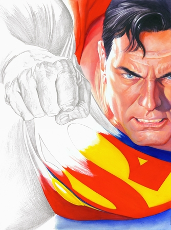 "Alex Ross Handsigned and Numbered Limited Edition Giclee:""Rough Justice - Superman"""