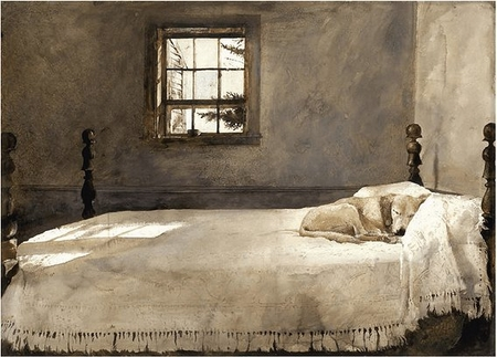 "Andrew Wyeth Custom Framed Art: ""Master Bedroom"" (Free Shipping)"