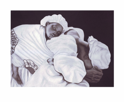 "Anthony Jordan Limited Edition Pencil Signed Giclee Ed. 100:""Mother and Child"""