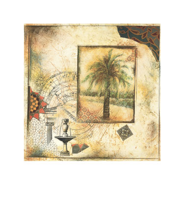 "Arnold Iger Signed and Numbered Limited Edition Giclée on Somerset Velvet Paper:""Palm Garden I"""