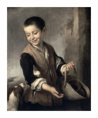 "Bartolome Esteban Murillo Fine Art Open Edition Giclée:""Boy with a Dog"""