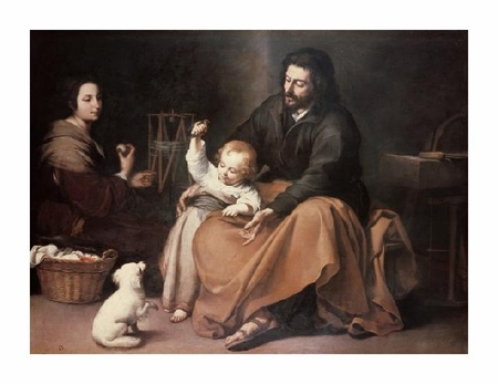 "Bartolome Esteban Murillo Fine Art Open Edition Giclée:""Holy Family with a Bird"""