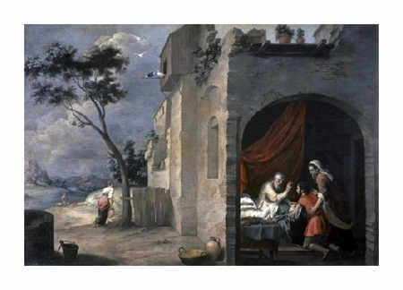 "Bartolome Esteban Murillo Fine Art Open Edition Giclée:""Isaac Blesses Jacob"""
