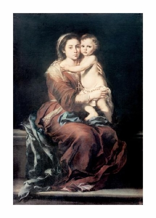 "Bartolome Esteban Murillo Fine Art Open Edition Giclée:""Madonna & the Rosary #1"""