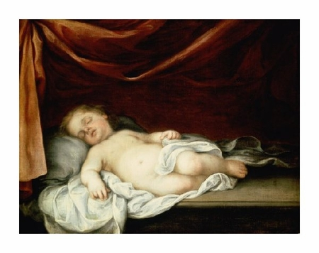 "Bartolome Esteban Murillo Fine Art Open Edition Giclée:""The Christ Child Asleep"""