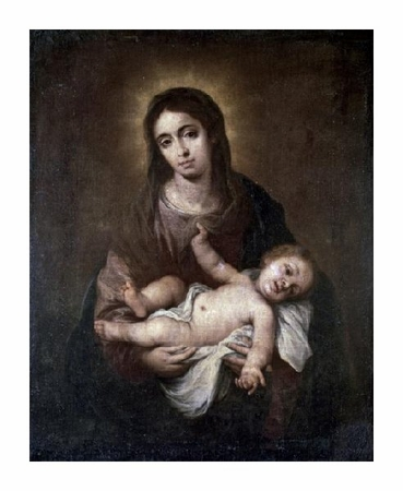 "Bartolome Esteban Murillo Fine Art Open Edition Giclée:""Virgin & Child #1"""