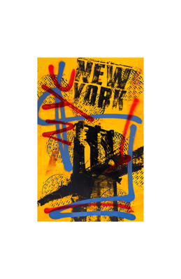 "Bobby Hill Limited Edition Pencil Signed Artist's Proof Giclee:""NYC Yellow II"""