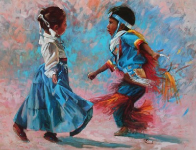 """Bonnie Conrad Hand Signed and Numbered Limited Edition Lithograph On Paper """"Dancers"""""""