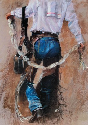 """Bonnie Conrad Hand Signed and Numbered Limited Edition Lithograph On Paper """"Gearin' Up"""""""