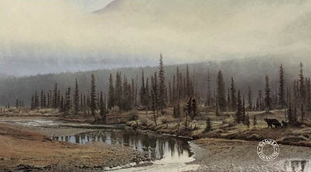 "Brent Townsend Hand Signed and Numbered Limited Edition Giclee on Paper :"" Misty Morning """
