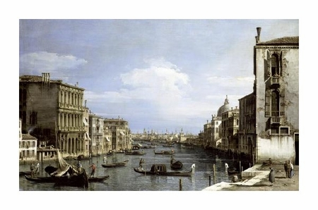 "Canaletto Fine Art Open Edition Giclée:""Grand Canal, Venice from Camp0 Di San Vio"""