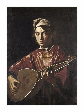 "Caravaggio Fine Art Open Edition Giclée:""The Lute Player"""
