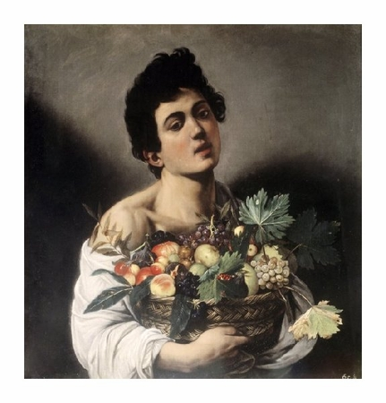 """Caravaggio Fine Art Open Edition Giclée:""""Young Boy with Basketful of Fruit"""""""