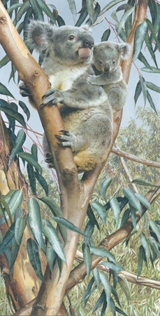 "Carl Brenders Handsigned and Numbered Limited Edition Giclee on Canvas:"" Up a Gum with Mum"""