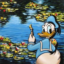 """Carlton And Reis Handsigned and Numbered Limited Edition Giclee on Canvas: """"Impressions of a Duck"""""""