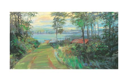 "Carol Rowan Signed and Numbered Limited Edition Giclée on Somerset Velvet Paper:""Collins Lake I"""
