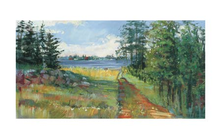 "Carol Rowan Signed and Numbered Limited Edition Giclée on Somerset Velvet Paper:""Collins Lake II"""