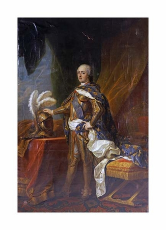 """Charles Andre Van Loo Fine Art Open Edition Giclée:""""Portrait of King Louis XV of France and Navarre"""""""