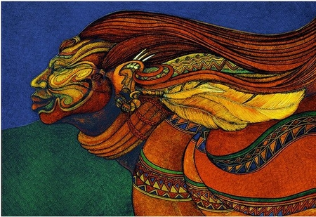"""Charles Bibbs Hand Signed and Numbered Limited Edition Giclee:""""African Adorned"""""""