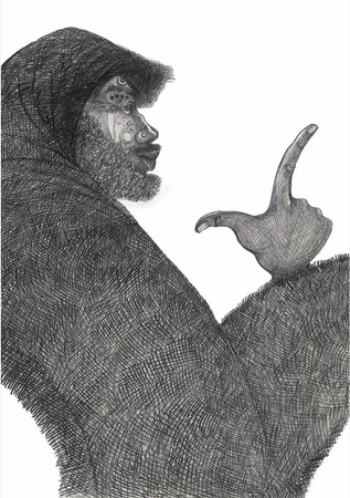 """Charles Bibbs Hand Signed and Numbered Limited Edition:""""Bagman Storyteller"""""""
