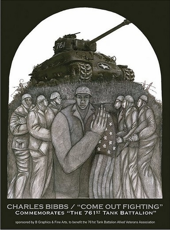 """Charles Bibbs Hand Signed and Numbered Limited Edition Giclee Print:""""Come Out Fighting"""""""