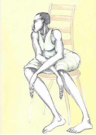 "Charles Bibbs Hand Signed and Numbered Limited edition Giclee Print:""A Chair & A Lady"""