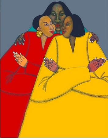 "Charles Bibbs & Synthia Saint James Limited Edition Giclee Print:""Big Sis"""