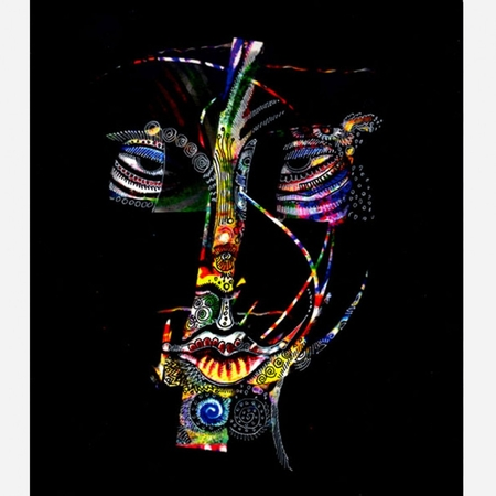"Charles Bibbs Hand Signed and Numbered Limited Edition: ""Mask #5 Collaboration"""