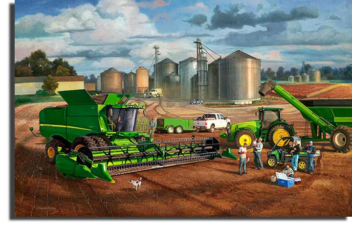 John Deere Sculpture : Charles freitag hand signed and numbered limited edition
