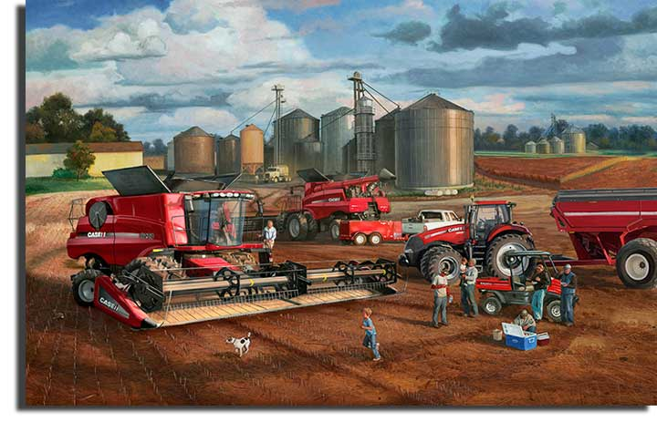 Case Tractor Posters : Charles freitag hand signed and numbered limited edition
