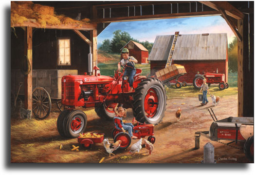 International Tractor Painting : Charles freitag limited edition giclee on paper quot farmall