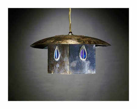 "Charles Rennie Mackintosh Fine Art Open Edition Giclée:""A Metal and Leaded Glass Hanging Shade"""
