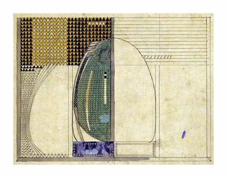 "Charles Rennie Mackintosh Fine Art Open Edition Giclée:""Design, 1916 for W.J Bassett-Lowke Esq"""