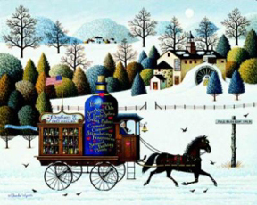 "Charles Wysocki Hand Signed and Numbered Limited Edition Print: ""Promises, Promises"""