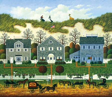 "Charles Wysocki Handsigned and Numbered Limited Edition:""Nantucket Winds"""