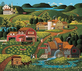 "Charles Wysocki Handsigned & Numbered Limited Edition:""Burma Road"""