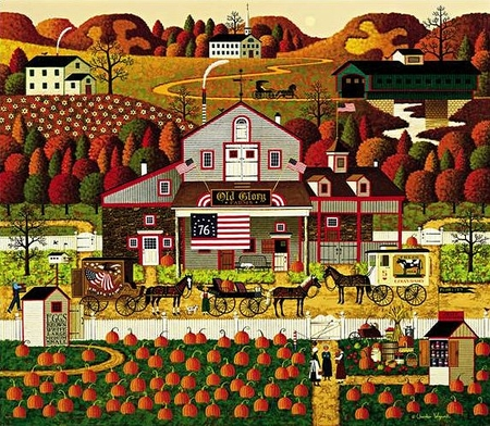 "Charles Wysocki Handsigned & Numbered Limited Edition Legacy Edition:""Old Glory Farms"""