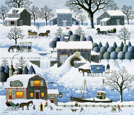 """Charles Wysocki Legacy Collection Limited Edition Print:""""Plumbelly's Playground"""""""